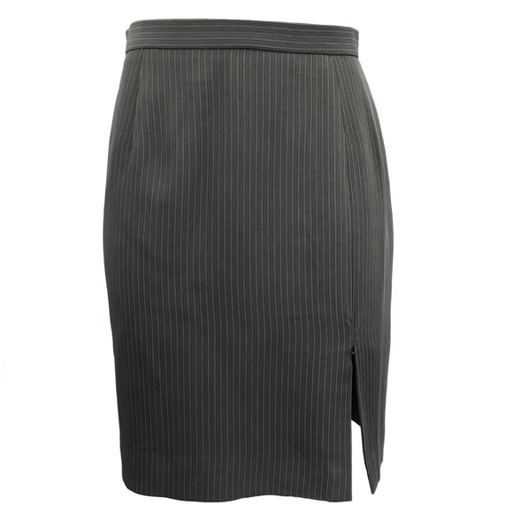 Vintage Dresses & Skirts - 90's Vertical Pinstripe #girlboss Career Skirt